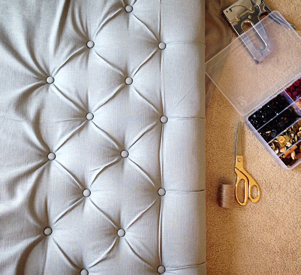 save money diy your own glam tufted bed