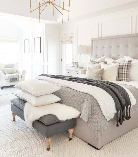 how to layer neutral bedding