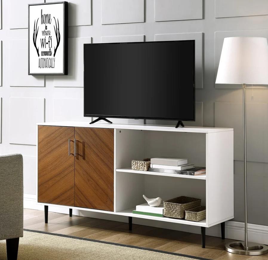 mixed materials mid-century modern bedroom