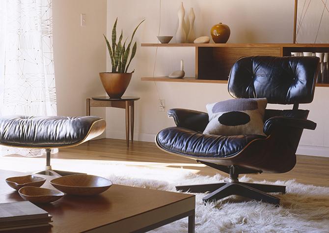 mid-century modern bedroom on a budget