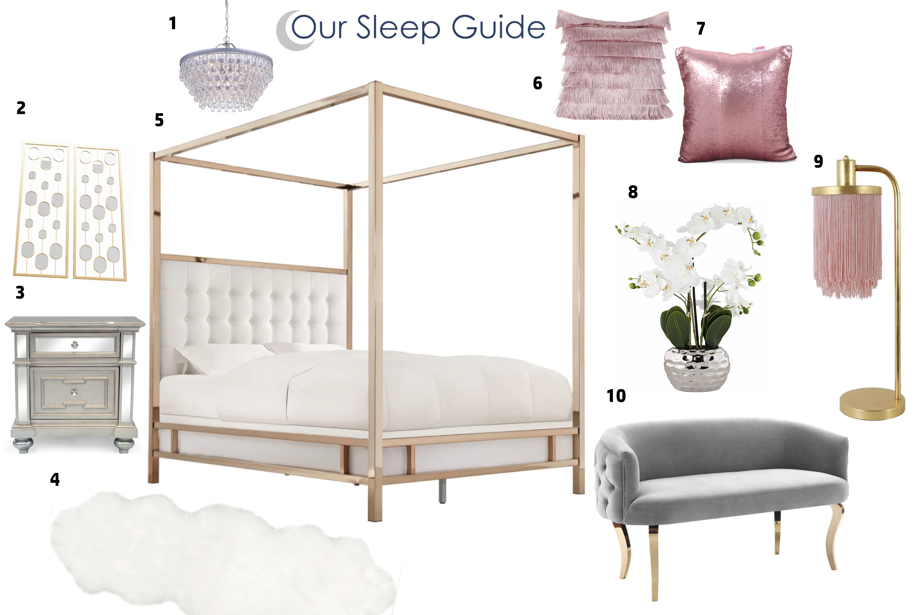 our sleep guide glam bedroom design