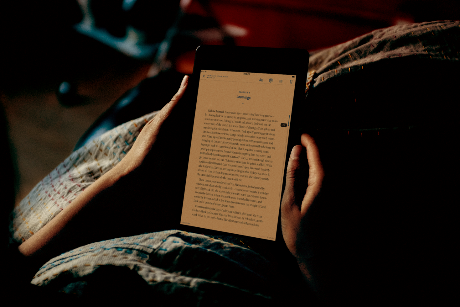 distract yourself with reading to get some sleep