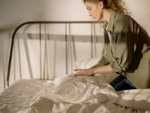 better sleep caused by a relaxed sleeping environment