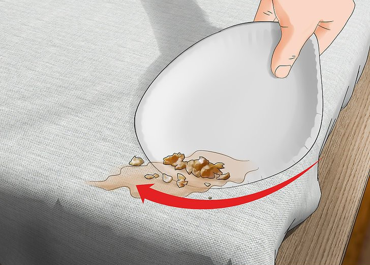 scraping vomit off mattress