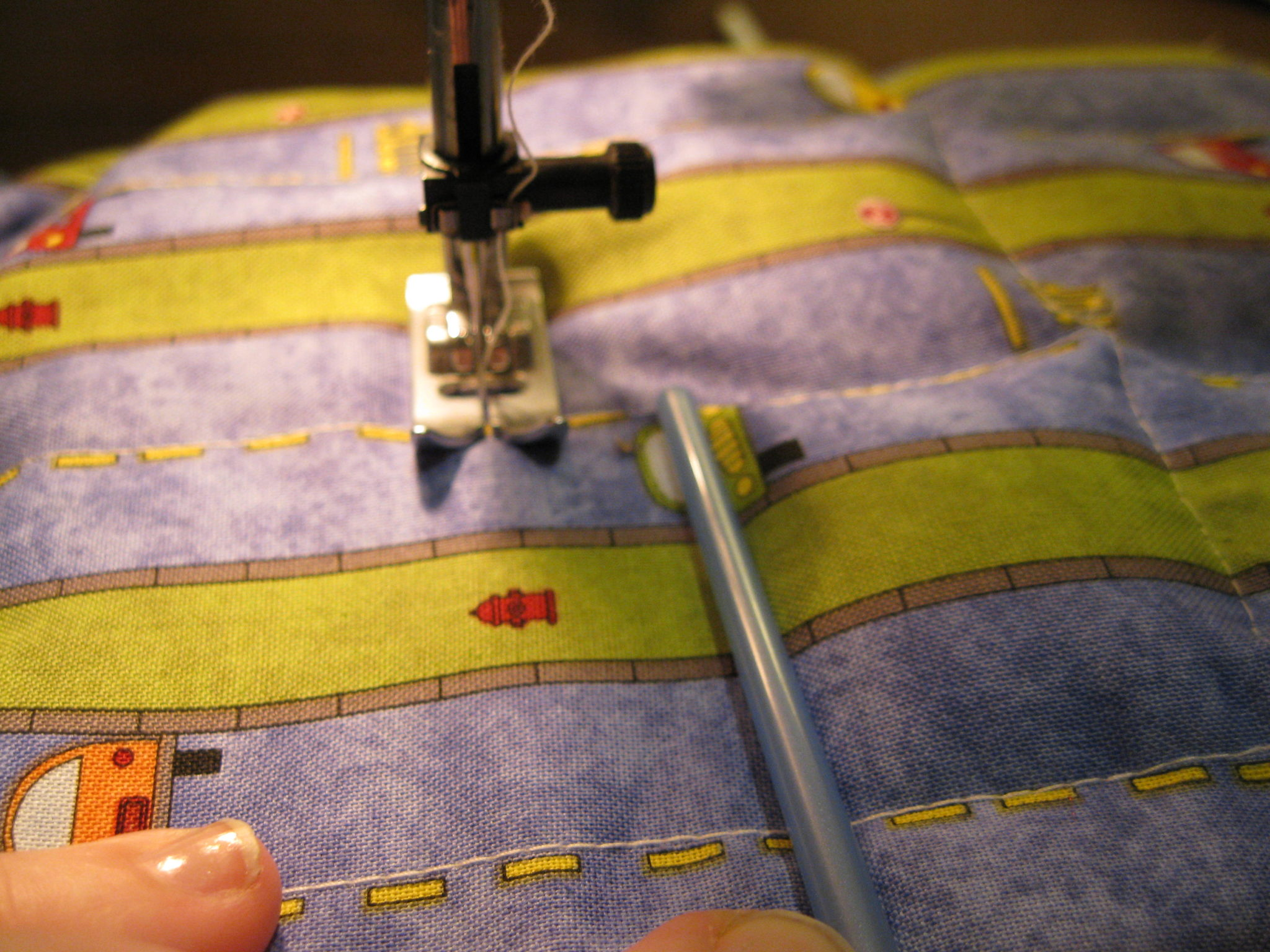 sewing a weighted blanket