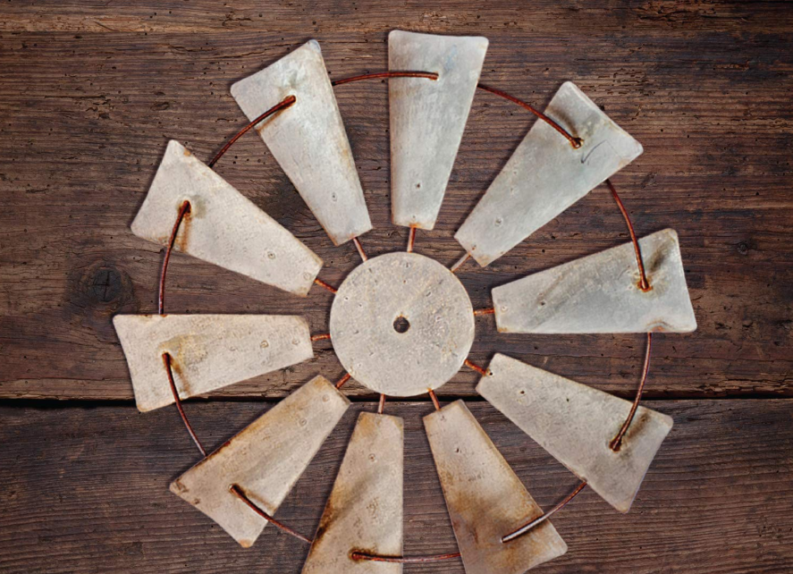 windmill turbine rustic wall decor