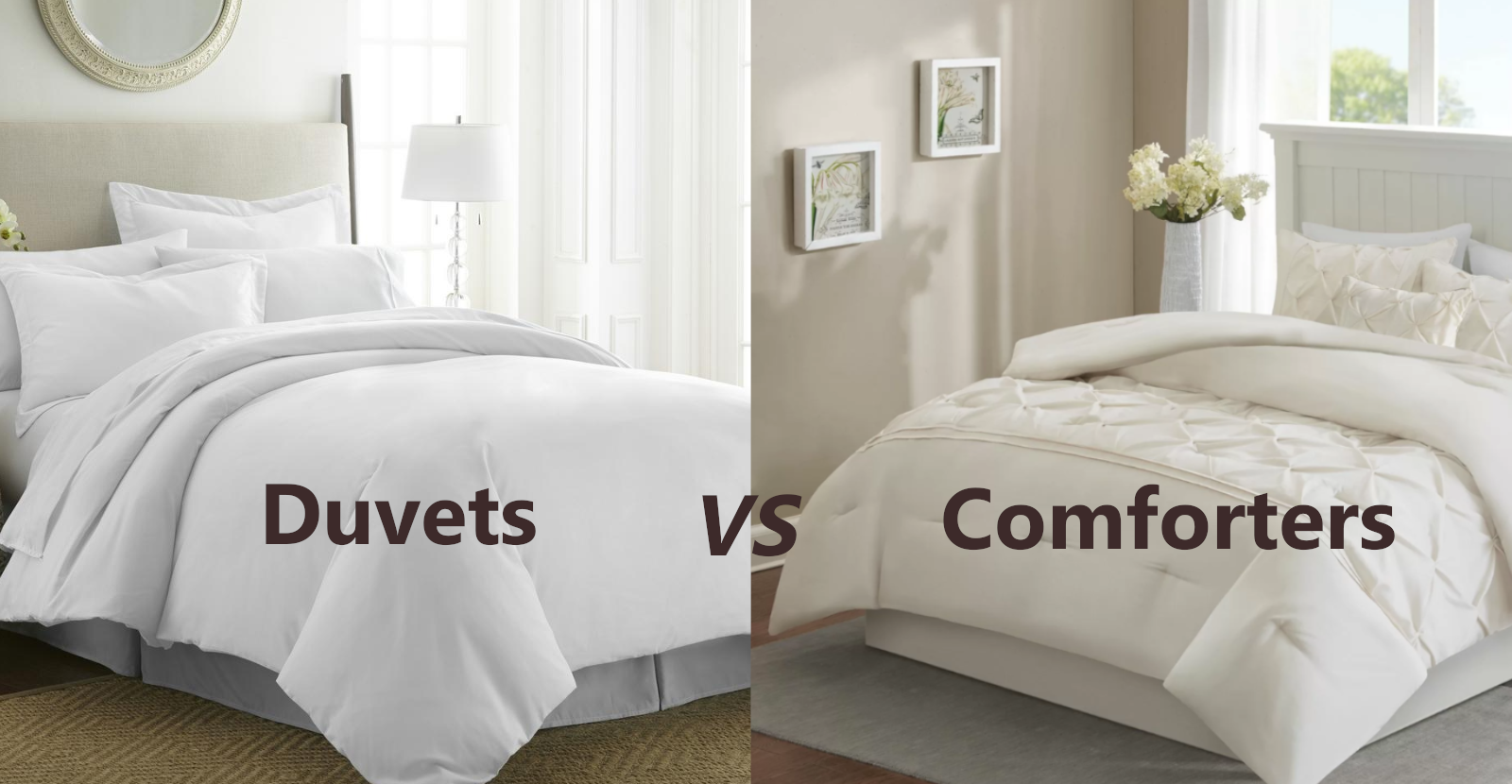 difference between comforters and duvets