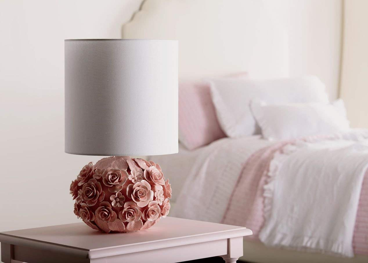 soft vintage floral lamp