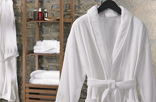 extra nice put out hotel robes