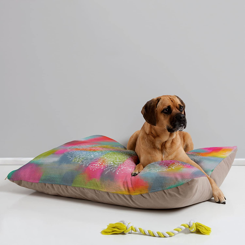 deny designs pet bed bright colors