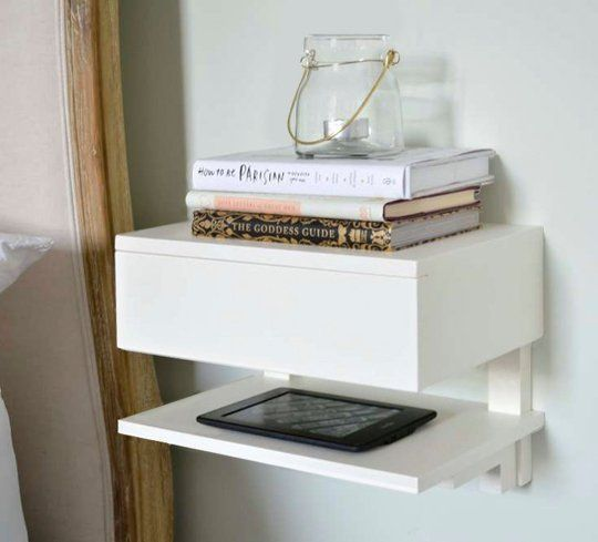 floating nightstands create space small bedroom