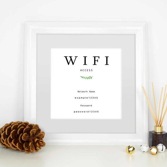 give wifi info