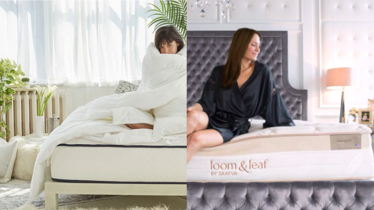 loom leaf mattress review vs memory lux