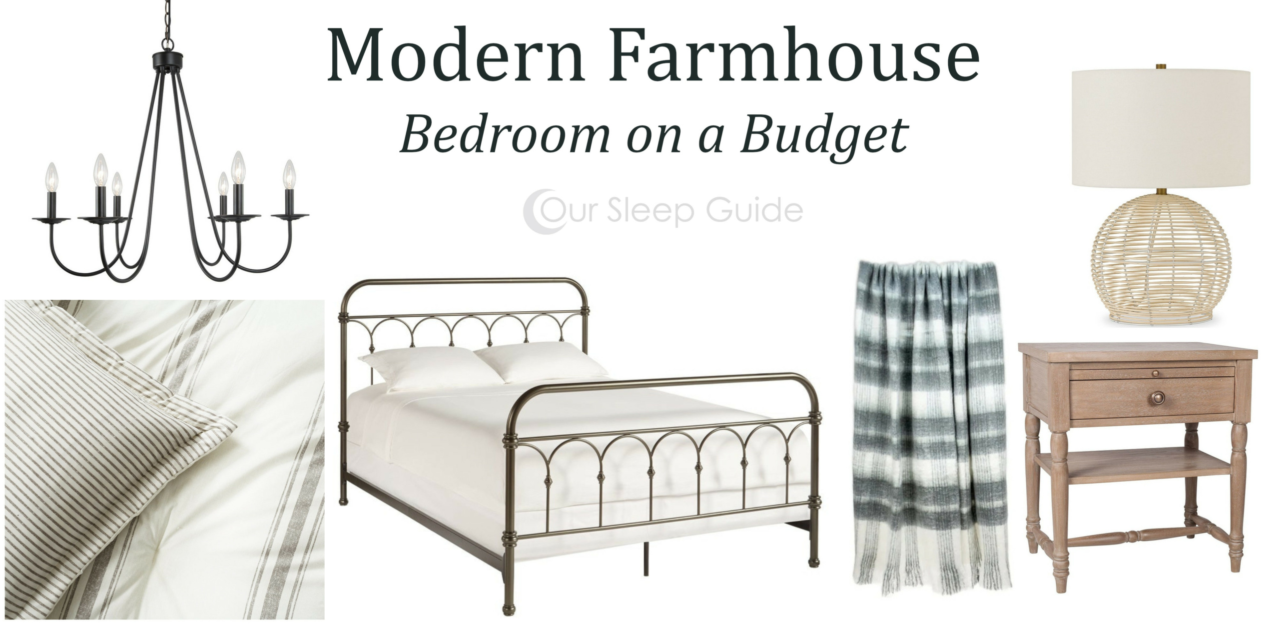 modern farmhouse bedroom design on a budget