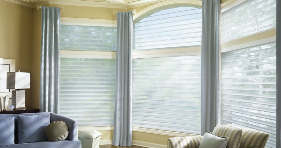 multiple layers of window coverings