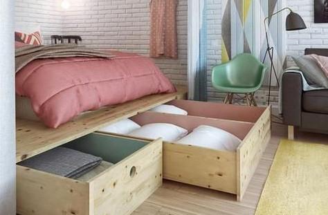 loft apartment style bedroom