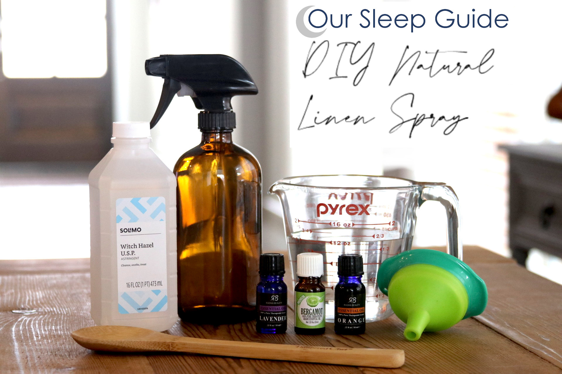 make your own linen spray diy project