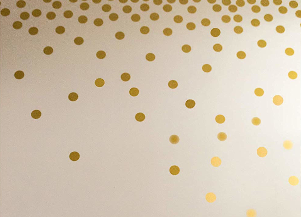gold decorative stickers girls room