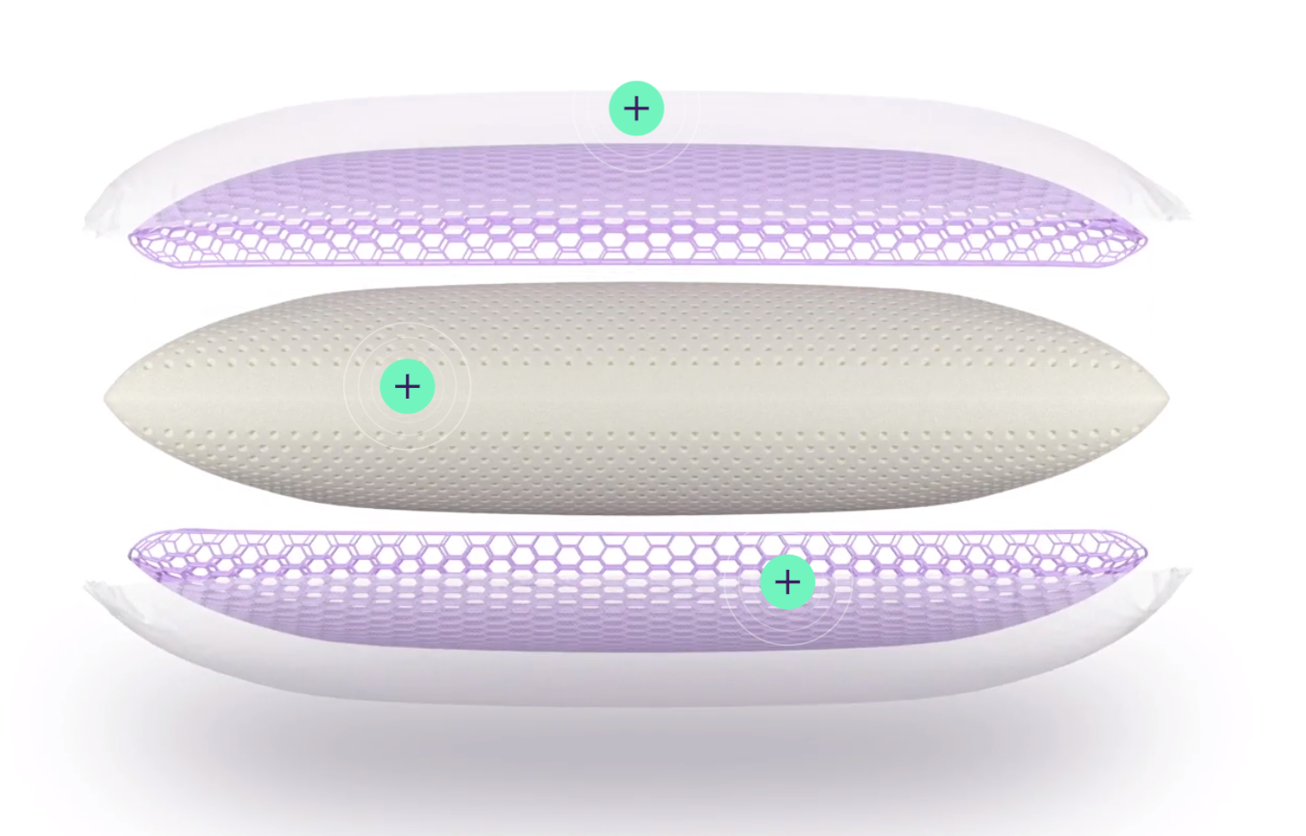 hybrid pillow from the purple mattress brand review