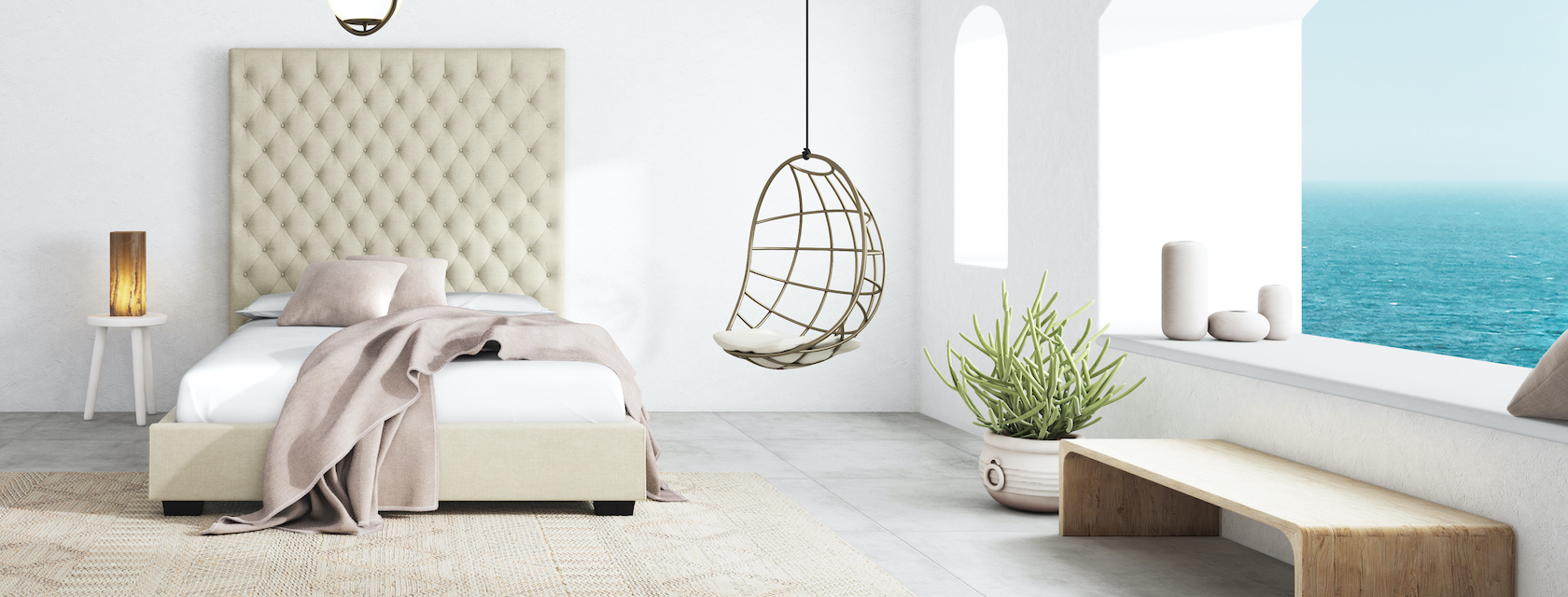 why we love the marbella linen bed frame saatva