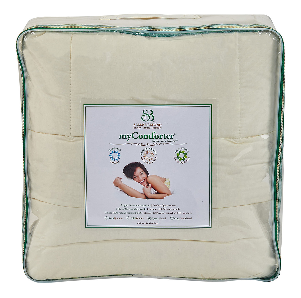 sleep & beyond wool my comforter