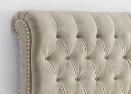 gorgeous details for the saatva beds