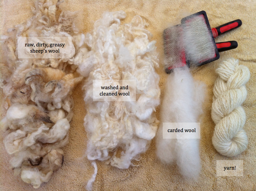 the process of wool