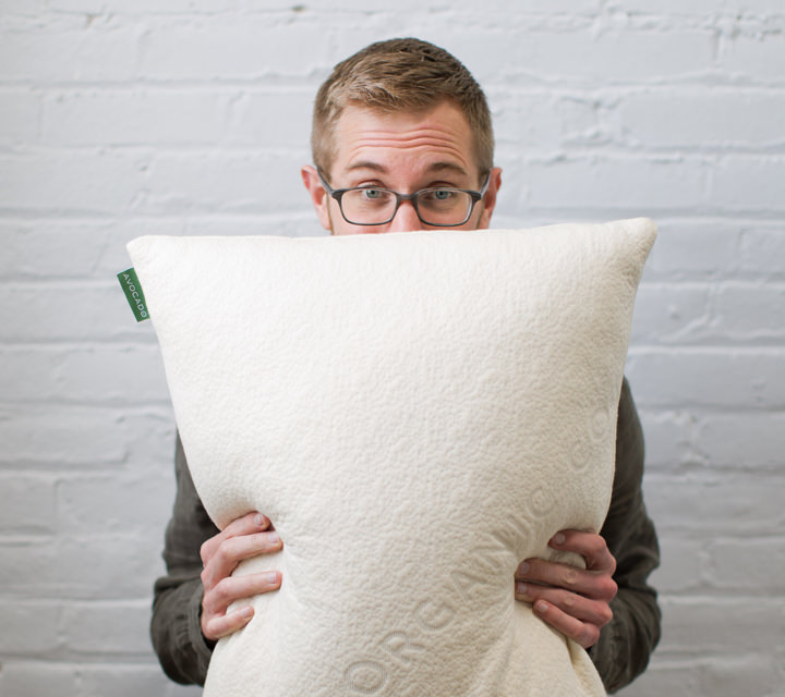 our favorite pillow from the organic mattress company Avocado