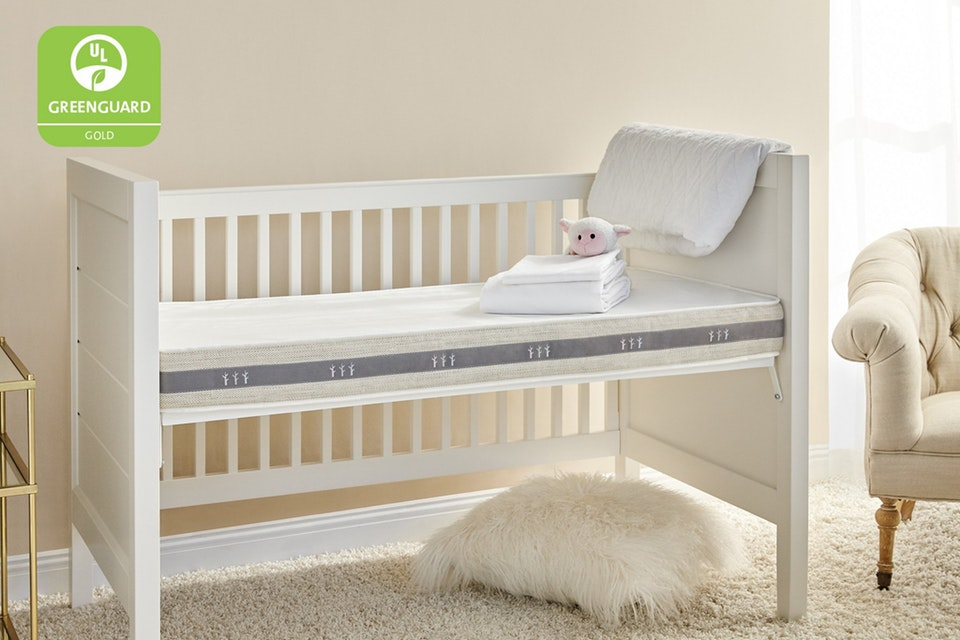 brentwood home 2 stage crib mattress review