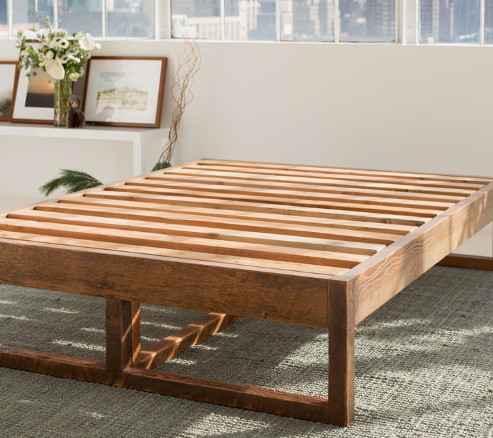 stunning wooden bed frame reclaimed wood avocado