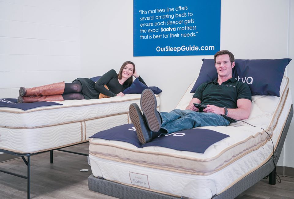 try a mattress before you buy at our sleep guide showroom