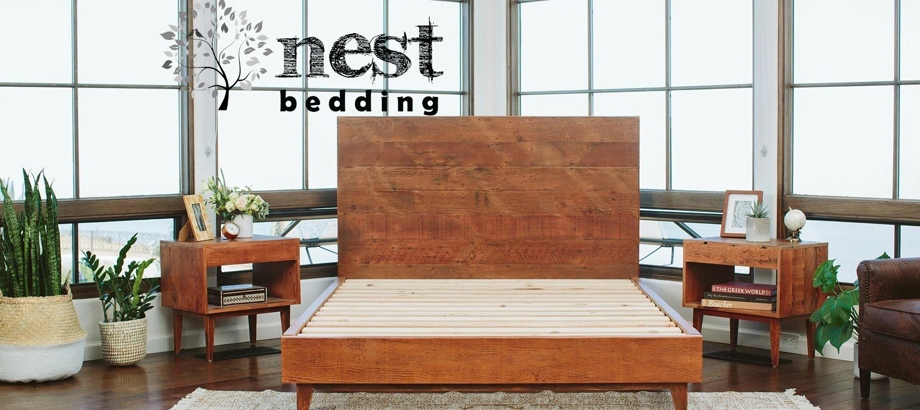 reclaimed wood bedroom furniture from nest bedding