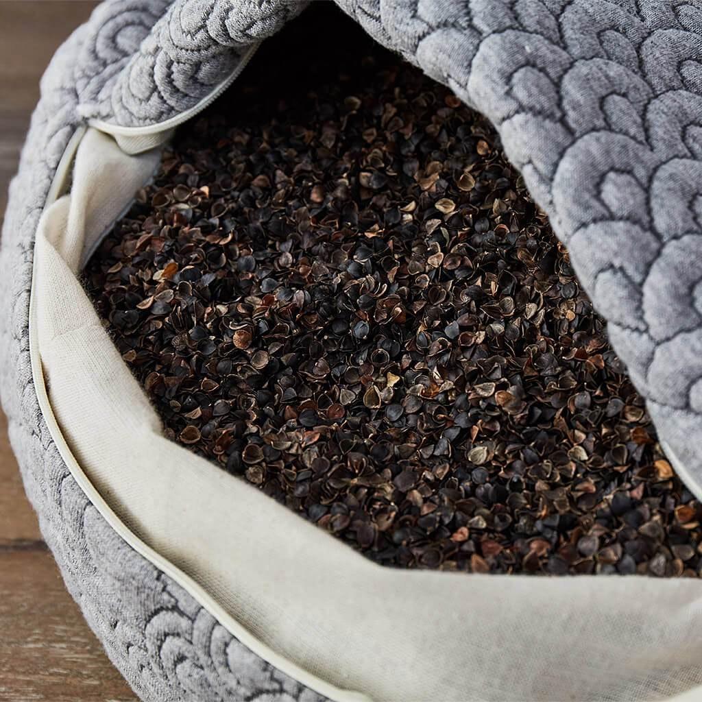 natural materials buckwheat in yoga pillows