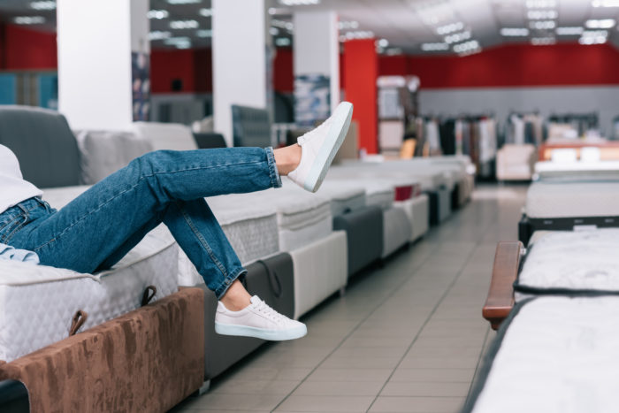 try out firm mattresses in store