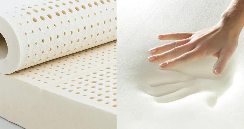 latex vs memory foam mattress material