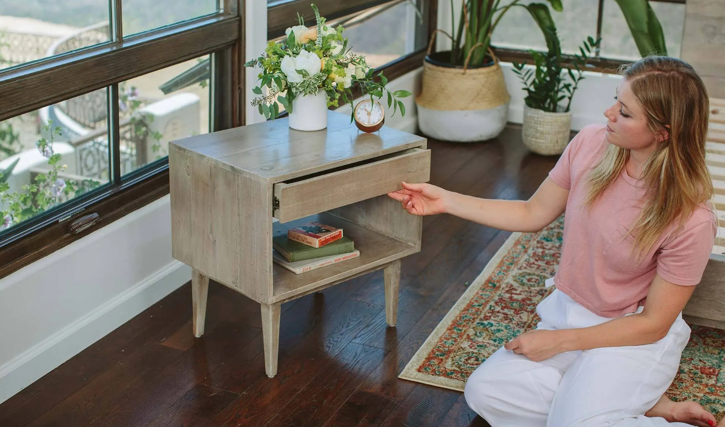 nest bedding nightstand review