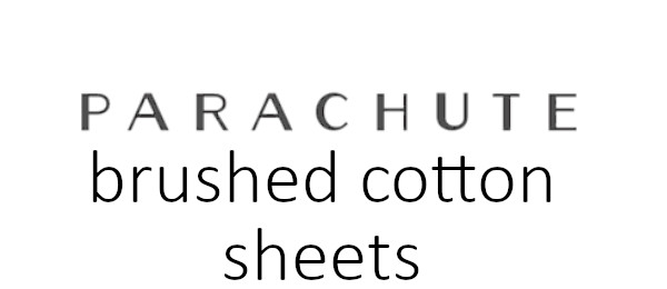 brushed cotton sheet set logo parachute