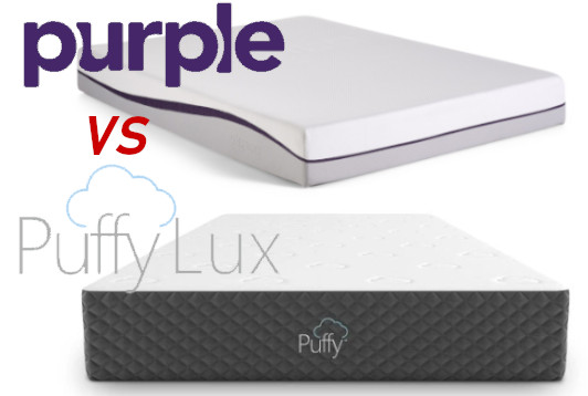 puffy lux vs purple mattress
