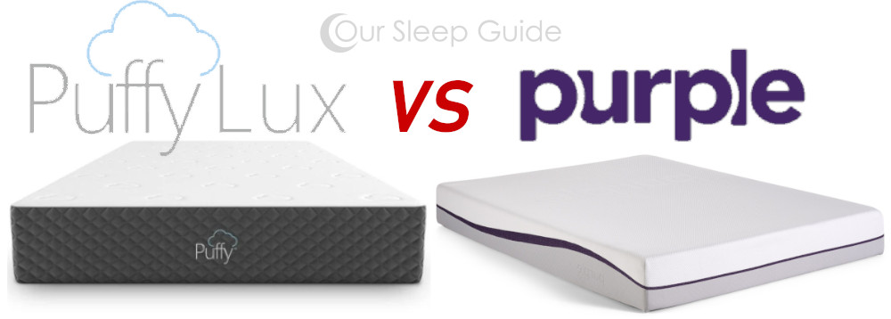 puffy lux vs purple mattress review