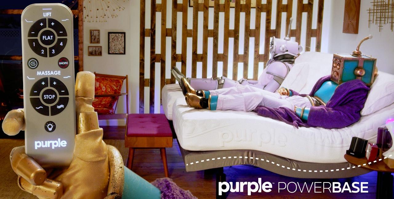 purple powerbase adjustable bed