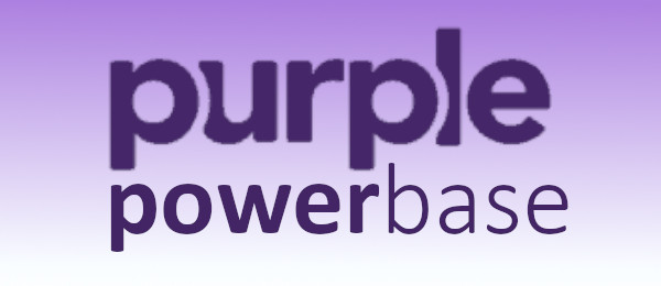 Purple Adjustable Power Base Logo
