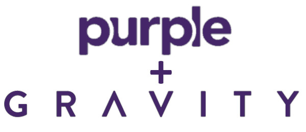 purple and gravity weighted blanket logo
