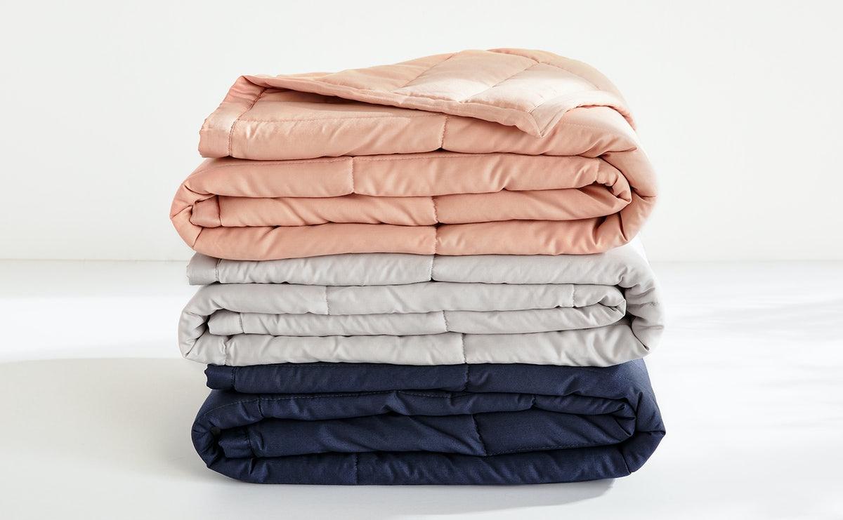 three color options blush, grey, blue