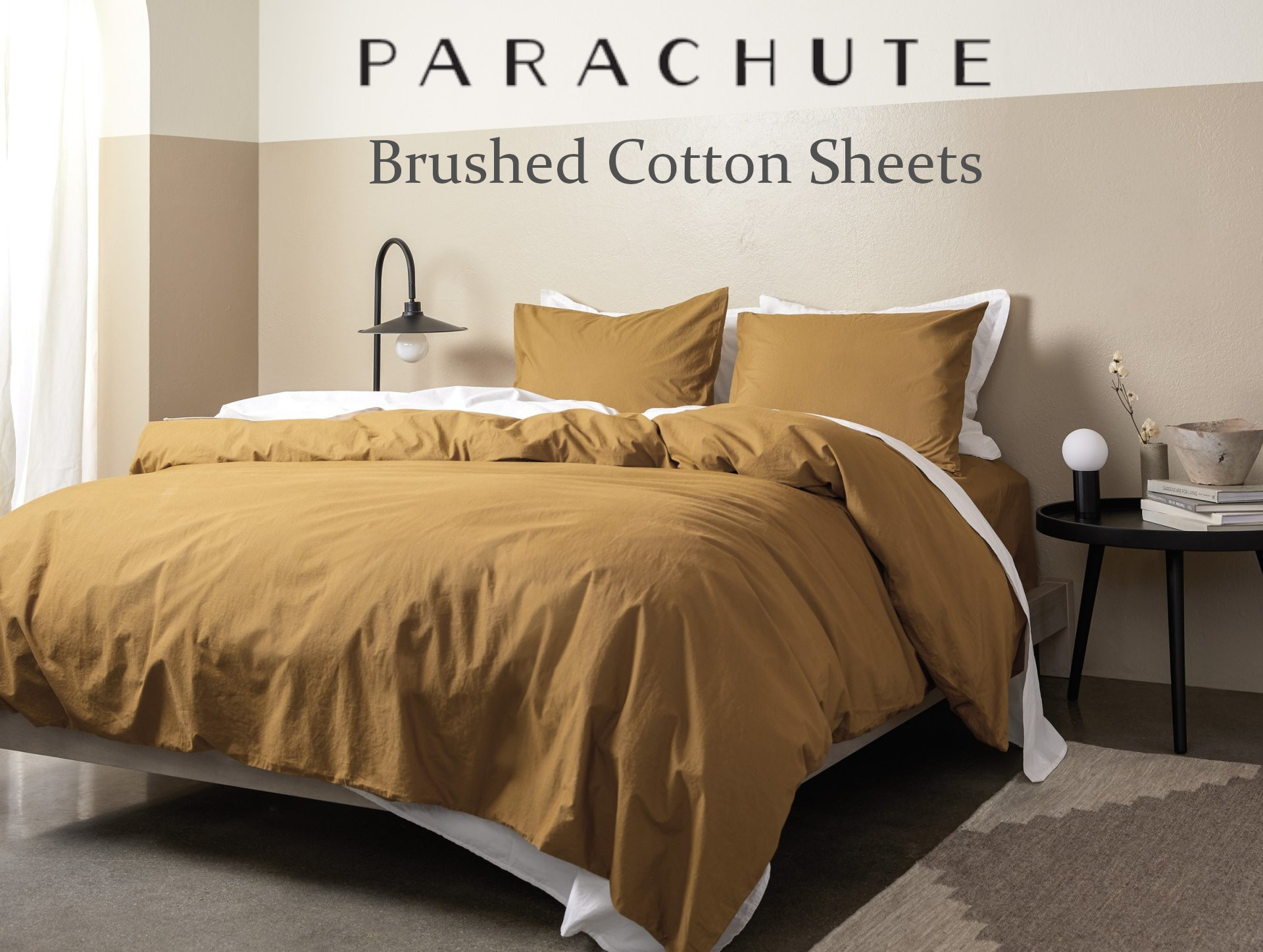 honest review over the brushed cotton sheets by Parachute