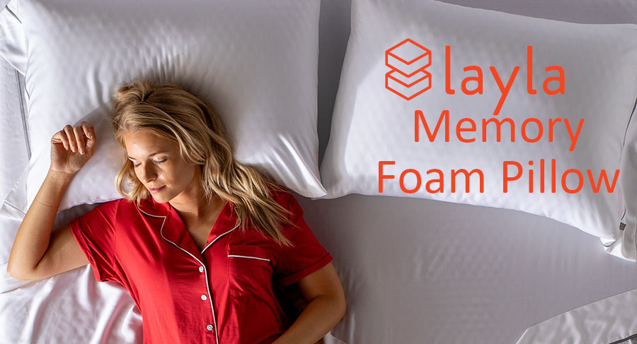 breathable shredded memory foam pillow from layla