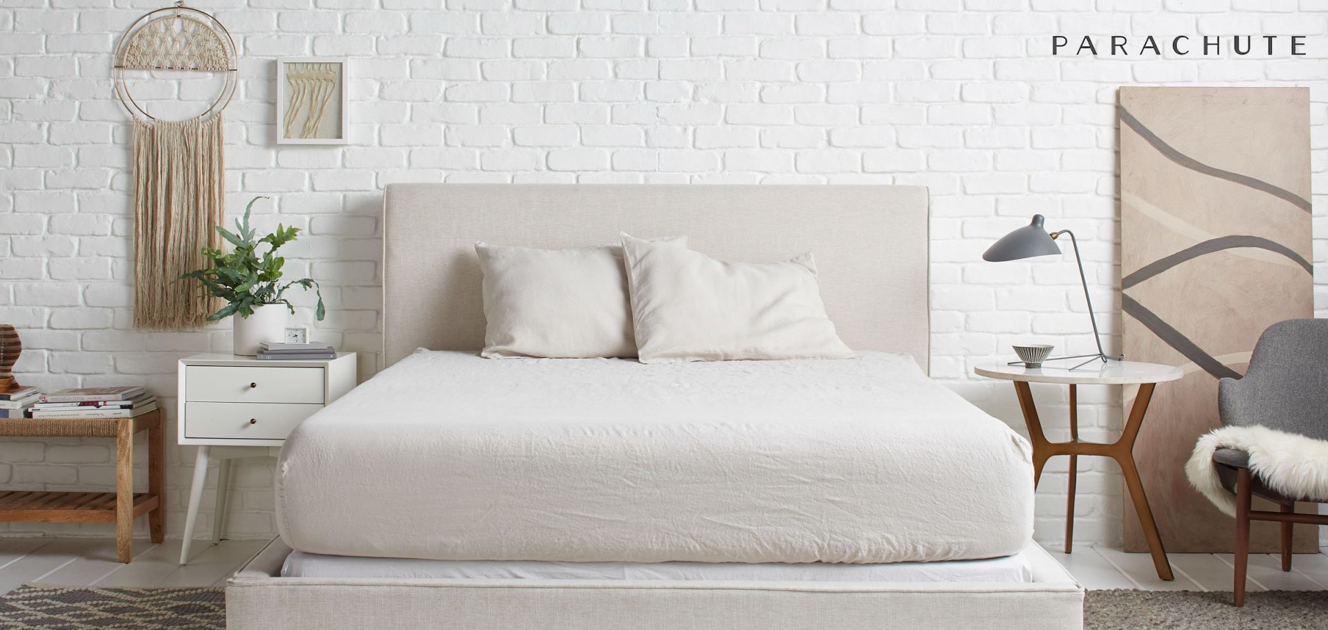 sandy neutral bedding linen from parachute