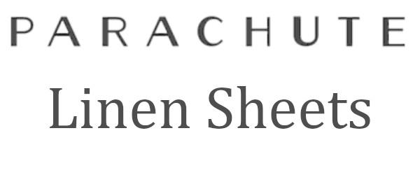 the parachute linen sheets review logo