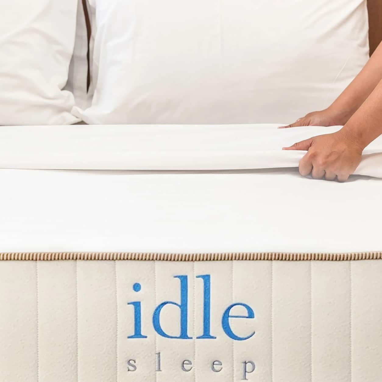 idle sleep all natural latex hybrid mattress