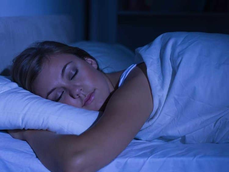 night time sleep routine stress free