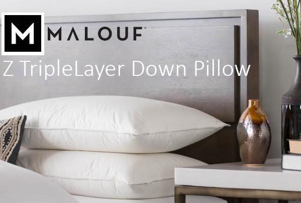 malouf z triple layer down pillow review